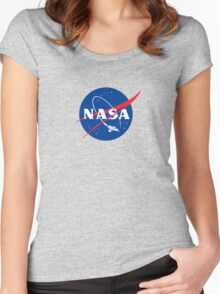 NASA LOGO SERENITY (FIREFLY) Women's Fitted Scoop T-Shirt