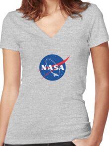 NASA LOGO SERENITY (FIREFLY) Women's Fitted V-Neck T-Shirt