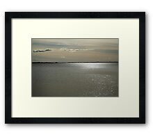 Silver reflection Framed Print