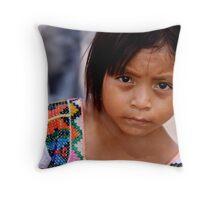Litter girl Throw Pillow