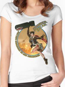 Bomber Dear - Putting Warheads on Axis Foreheads Women's Fitted Scoop T-Shirt