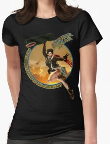 Bomber Dear - Putting Warheads on Axis Foreheads Womens Fitted T-Shirt