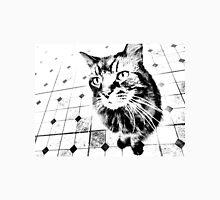 Harlequin Cat with Diamonds Black White Pop Art Unisex T-Shirt