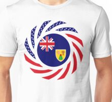 Turks & Caicos American Multinational Patriot Flag Series Unisex T-Shirt