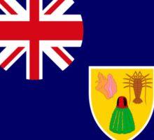 Turks & Caicos American Multinational Patriot Flag Series Sticker