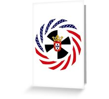 Ceutan American Multinational Patriot Flag Series Greeting Card