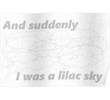 Halsey//Lilac Sky Poster