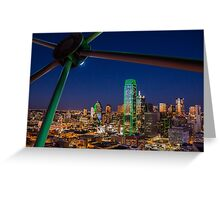 Dallas Skyline at Night Greeting Card