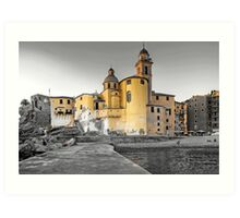 Pale Church Art Print