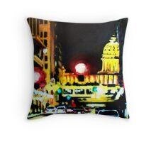 Capital in Crimson Throw Pillow