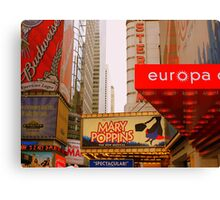 THE LIGHTS ARE BRIGHT ON BROADWAY. Canvas Print
