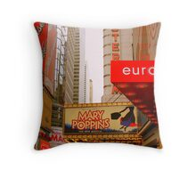 THE LIGHTS ARE BRIGHT ON BROADWAY. Throw Pillow