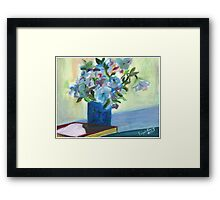 Flowers On a Vase. Original Oil On Canvas Painting  Fine Art Print from Oil On Canvas Painting Flowers Still Life Painting Art Oil On Canvas Wall Art Framed Print
