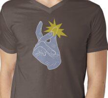 Finger Snapping Mens V-Neck T-Shirt