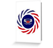 Mahorai American Multinational Patriot Flag Series Greeting Card