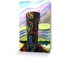 175 - INSPIRED BY STEVE'S CARVINGS - DAVE EDWARDS - WATERCOLOUR - 2007 Greeting Card