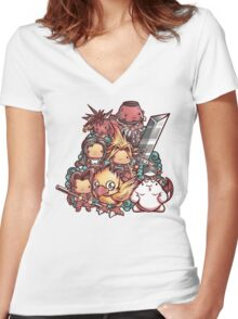 Cute Fantasy VII Women's Fitted V-Neck T-Shirt