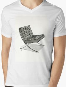 Barcelona chair - Watercolor Painting  Mens V-Neck T-Shirt