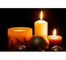 Candles and Christmas Photographic Print