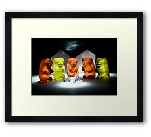 Gummy Bear Photography - Hello Campers! Framed Print