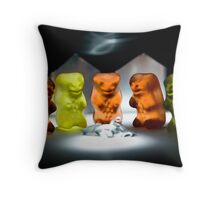 Gummy Bear Photography - Hello Campers! Throw Pillow