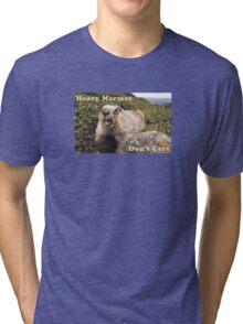 Hoary Marmot Don't Care Tri-blend T-Shirt