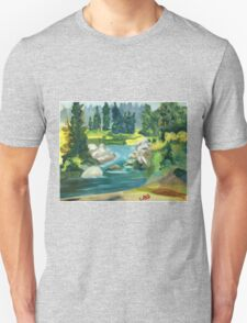 Green River -  Oil On Canvas Painting Unisex T-Shirt
