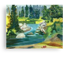 Green River -  Oil On Canvas Painting Canvas Print