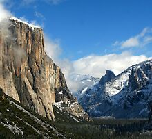 Yosemite Valley in Winter  by Peggy Berger