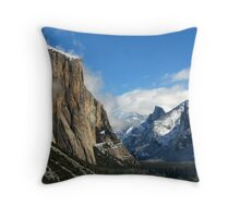 Yosemite Valley in Winter  Throw Pillow