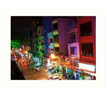Ho Chi Min city lights Art Print