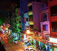 Ho Chi Min city lights by twoboos