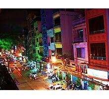 Ho Chi Min city lights Photographic Print