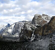 Wide Angle Yosemite Valley -  by Peggy Berger