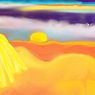 Sunset on the Beach by Sarah Curtiss