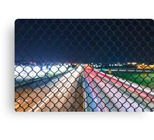 Over Pass Fence Long Exposure Canvas Print