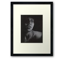 Lonesome and in Love [Self-Portrait in White Prisma] Framed Print