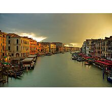 Last sunrays over the Canal Photographic Print