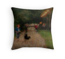 Trolley Trail Throw Pillow