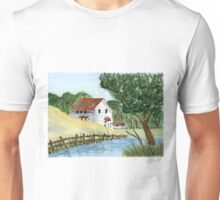 Lake house - Watercolor painting Unisex T-Shirt