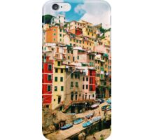 Colorful buildings in Cinque Terre iPhone Case/Skin
