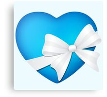 Valentine Blue Heart Canvas Print