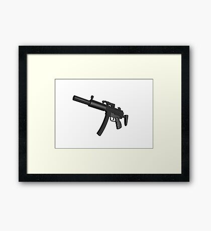 Machine Gun Framed Print