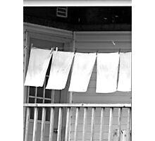 clothesline on porch Photographic Print