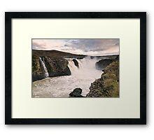 Sigalda Waterfall Framed Print