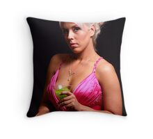 Green Cocktail Drink Throw Pillow