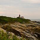 """Beavertail Lighthouse"" - Conanicut Island Series - © 2009 AUG by Jack McCabe"