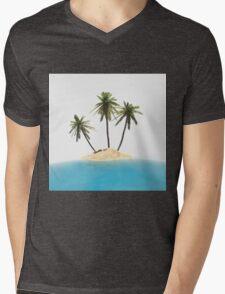 tropical island Mens V-Neck T-Shirt