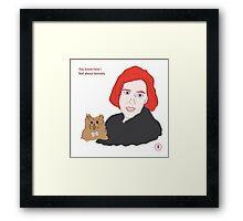 Scully's Opinion About Kennels Framed Print