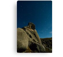 Castle Hill, Star Trails. Canvas Print